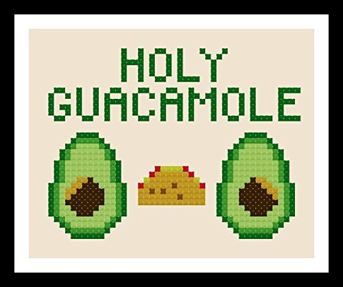 Counted Cross Stitch Kit. Holy Guacamole by Sew Irreverent