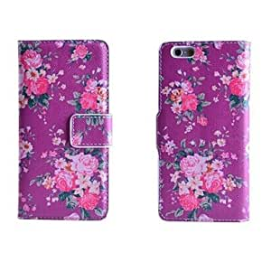 ZXSPACE Purple Rose Pattern Full Body Case with Stand for iPhone 6