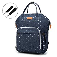 Diaper Bag Nappy Bags for Baby Girls Boys Nursing Care - Multi Function Diaper Backpack for Mom - Waterproof Large Capacity Durable and Stylish