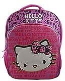 Hello Kitty Girl's 15.5″ 3D School Backpack Travel Bag with Rain Hood For Sale