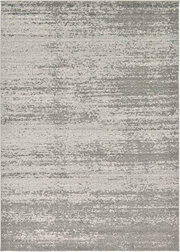 Unique Loom Del Mar Collection Contemporary Transitional Gray Area Rug (7' 0 x 10' 0) Collection Contemporary Area Rugs