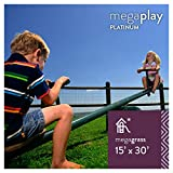 MEGAGRASS MegaPlay Platinum 15 x 30 Ft Artificial Grass for Kids Playground and Parks Outdoor Yard Runner Rug Carpet 450 SqFt 1.13'' Tall Blades 60 oz Face Weight