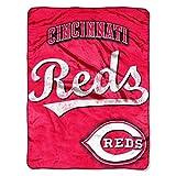 MLB Cincinnati Reds Micro Raschel Plush Throw Blanket, Trip Play Design