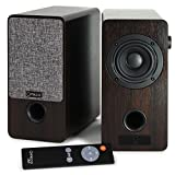 Micca ON3 3-Inch Powered Bookshelf Speakers with Remote Control, 48 Watts