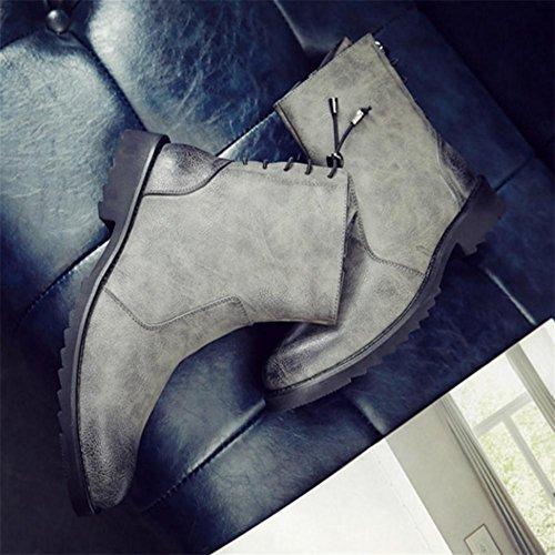 moto ¨¦clair chaussures de 40 fermeture hommes des amp;XYLes pointent de les bottes de d'hiver mode chauds W w8vnOqCg