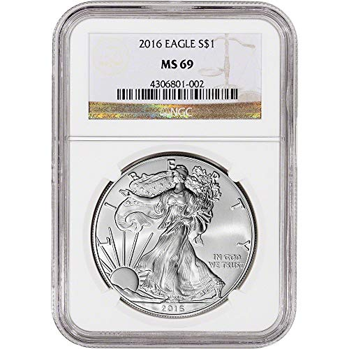 - 2016 American Silver Eagle $1 MS-69 NGC