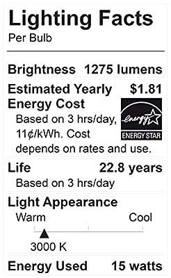 Maxxima PAR38 LED Indoor/Outdoor Warm White Light Bulb 1275 Lumens 15 Watts 100 Watt Equivalent 3000K 90 CRI Dimmable Energy Star Flood Light (4 Pack)