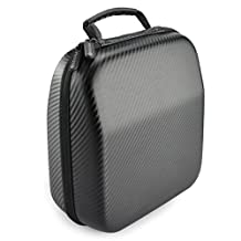 Headphones Case for Sennheiser HD650, HD600, HD598, HD558, HD518, AKG K550, K551, K240MKII, K240S, K272HDII, K242HDII, K99, K77, ATH A900, M50, M50x, Sony XB700, XB500, XB300, MA900, MA100 and More / Headphone Full Size Hard Shell Large Carrying Case / Headset Travel Bag with Space for Cable, AMP, iPod, Parts and Accessories
