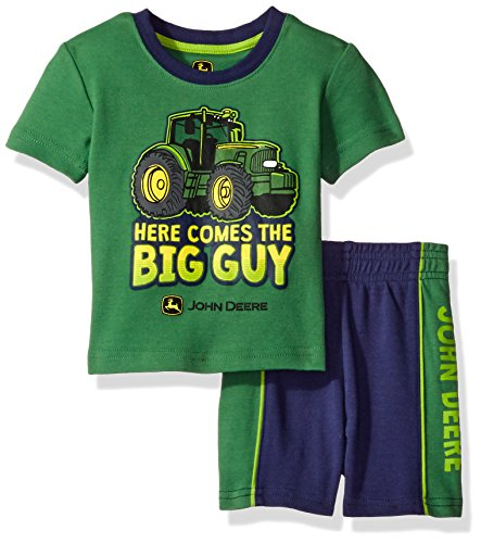 John Deere Baby Boys' Truck Short Set, Green/Navy, 12M (John Deere 425 Lawn Tractor For Sale)