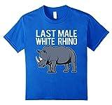 Last Male White Rhino T-Shirt 6 Royal Blue