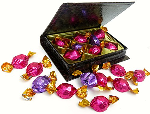 Godiva Chocolate, Brown Book Filled with Delicious Godiva Gems, Milk and Dark Chocolate, Small