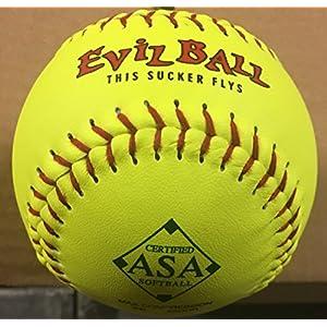 "1 Dozen ASA Evil Ball 11"" Softballs 52 COR 300 Compression 12 Balls (Evil ASA-11-Y-52)"
