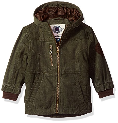 - Urban Republic Baby Boys Cotton Canvas Jacket, Olive, 24M