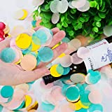 Outus 10000 Pieces 1 Inches Multicolor Table Paper Confetti for Wedding Bridal Shower Party Decoration, 6 Colors