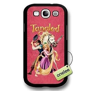 Cartoon Movie Disney Tangled Princess Rapunzel Hard Plastic Phone Case & Cover for Samsung Galaxy S3(i9300) - Black