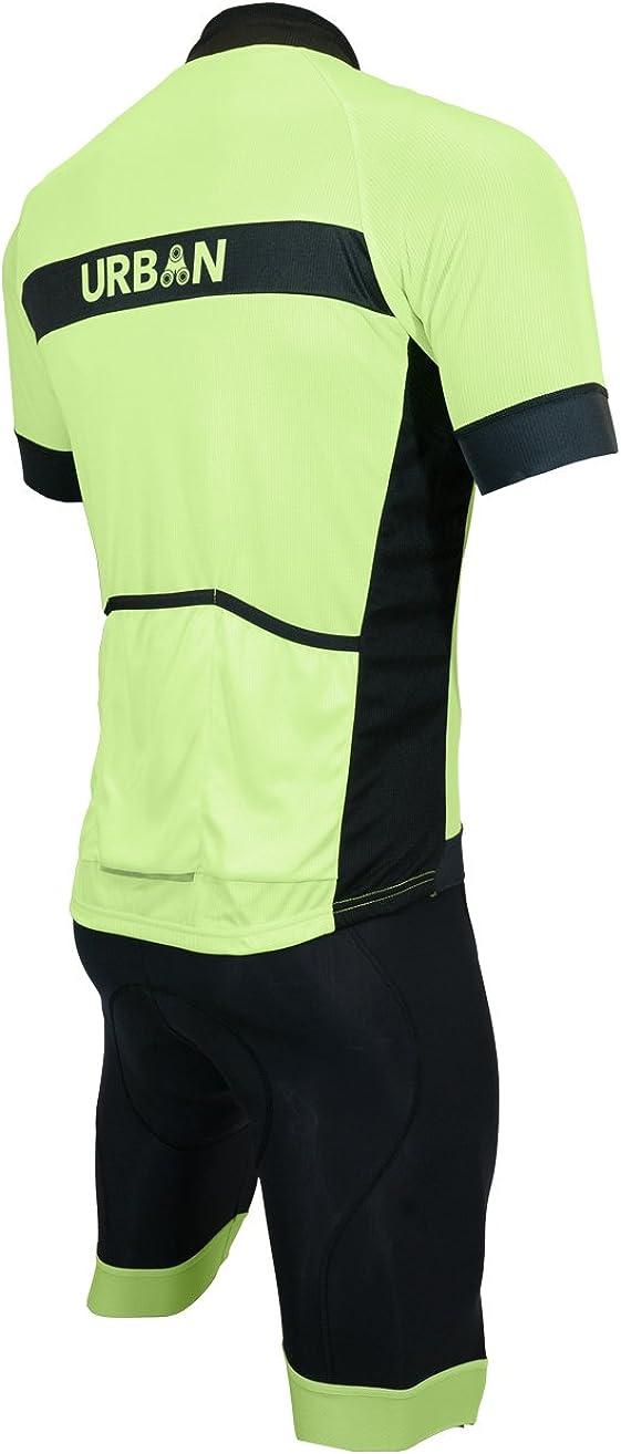 Yellow Black Cycling Jersey Bib Shorts Kits Short Sleeve Shirt Pad shorts Set