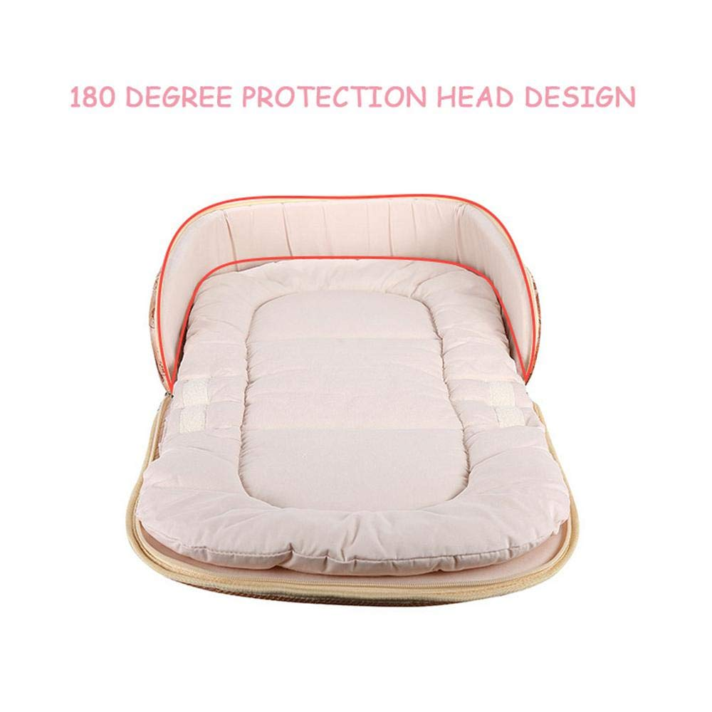 Baby Crib Bumper Collapsible As Diaper Backpack KOBWA Portable Infant Bionic Travel Bed Baby Snuggle Nest