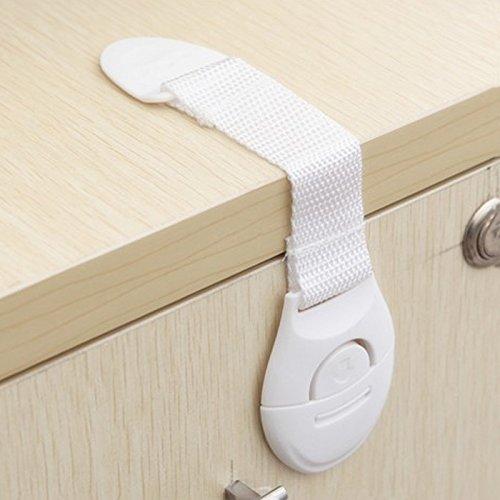 Lanhui Baby Kids Toddler Fridge Drawer Door Cabinet Cupboard Safety Locks 21cm, White
