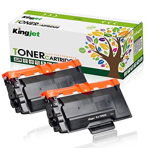Kingjet Compatible Toner Cartridge Replacement for TN850 TN820, Work with HL-L6200DW HL-L6200DWT HL-L6250DW HL-L5200DW, MFC-L5900DW MFC-L580000DW MFC-L6700DW Printer 2 Pack