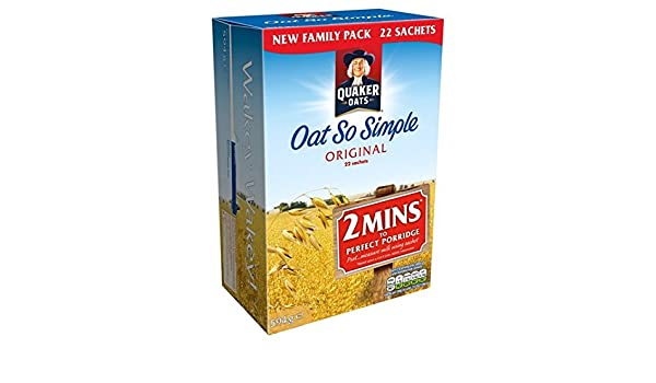 Avena Quaker tan simple Gachas original de 22 x 27 g: Amazon.es: Alimentación y bebidas