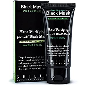 SHILLS Purifying Black Peel-off Mask,Facial Cleansing, Blackhead Remover Deep Cleanser, Acne Face Mask