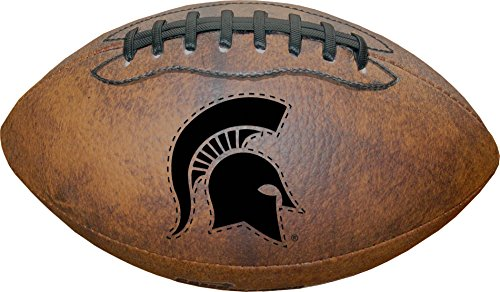NCAA Michigan State Spartans Vintage Throwback Football, 9-Inches ()