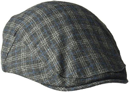 Hat Windowpane Cap (Country Gentleman Men's British Classic Patterned Flat Ivy Cap, Grey Windowpane, M)
