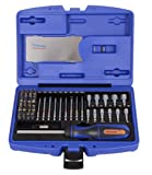 Projahn 4097 1/4-Inch Bit Box with Marked Bits Set of 60 Including Ratchet Screwdriver/with Compartment