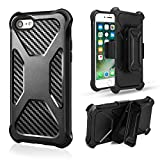 iPhone 7 Case,iPhone 8 Case[Full body][Heavy Duty Protection ][Locking Belt Swivel Clip]Shock Reduction/Bumper Case for 4.7 Inch iPhone 7 /iPhone 8(Black)