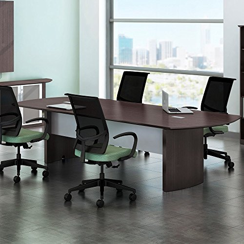 8ft - 14ft Modern Conference Table, Meeting Room Boardroom, Office Furniture (10ft, Gray Steel) - High End Contemporary Furniture