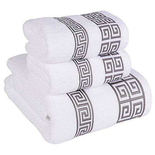 IBTHOUSE Bath Towel Set for Bathroom - 3 Piece includes 1 Ba