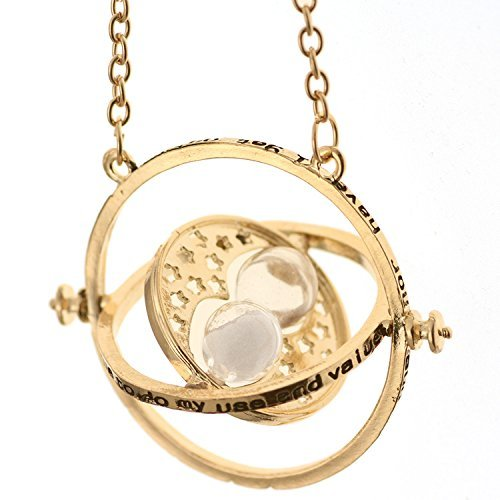 DearDear Harry Potter Gold Time Turner Necklace White Sand with gift card DearDeer