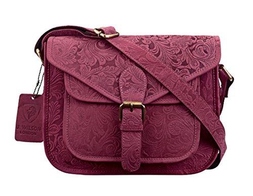 LondonBorsa Donna Blu JWilson A Blue Pink Secchiello Distressed Medium 1KuTlFJc3