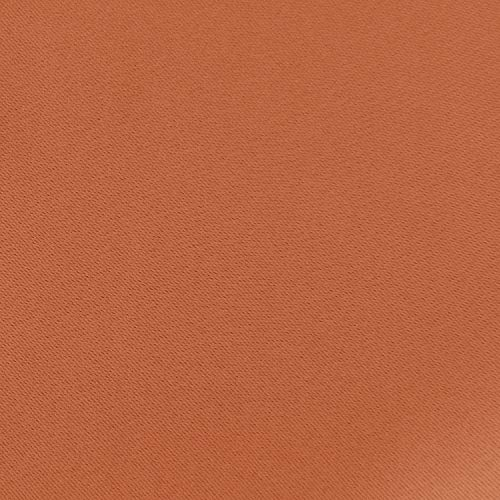 ارخص مكان يبيع Deconovo Grommet Plush Orange Thermal Insulated Blackout Curtain Panel 52x63 Inch