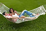Unvert Extra Heavy Duty Cotton Hammock Double Person Solid Wood Spreader ...