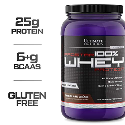 Ultimate Nutrition PROSTAR 100% Whey Protein Powder - Low Carb, Keto Friendly - 30 Servings, Chocolate Crème, 2 Pounds
