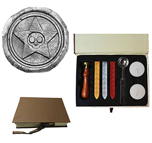 Vintage Skull in Star Halloween Wedding Invitation Custom Picture Wax Seal Sealing Stamp Sticks Spoon Gift Box Set Kit
