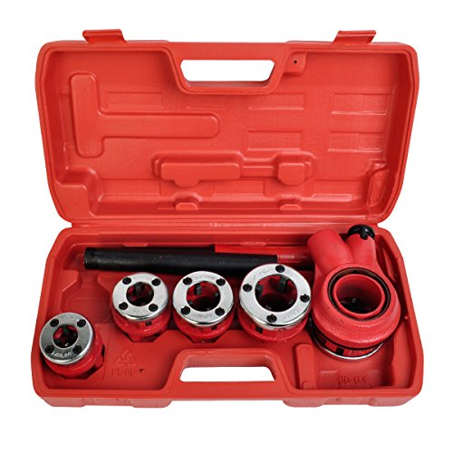 Comie New Ratchet Pipe Threader Kit Set Ratcheting w/5 Stock Dies & Handle Plumbing Case
