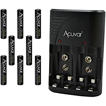 8 acuvar aaa rechargeable batteries acuvar 3 in 1 battery charger for double aa. Black Bedroom Furniture Sets. Home Design Ideas