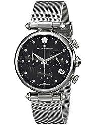 Claude Bernard Womens 10216 3 NPN2 Dress Code Chronograph Analog Display Swiss Quartz Silver Watch