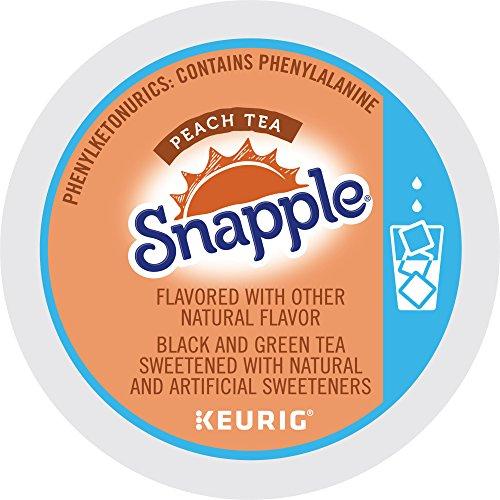 (Keurig, Snapple, Peach Iced Tea, K-Cup packs, 12 Count, Pack of 6)