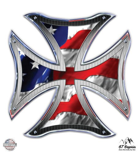 Iron Cross American FLag - 3