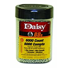 Gamo 98006Daisy 980060-444 6000 ct BB Bottle (Silver, 4.5 mm), Black