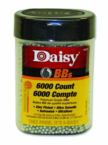 Daisy Outdoor Products 6000 ct BB Bottle (Silver, 4.5 (Count Bbs)