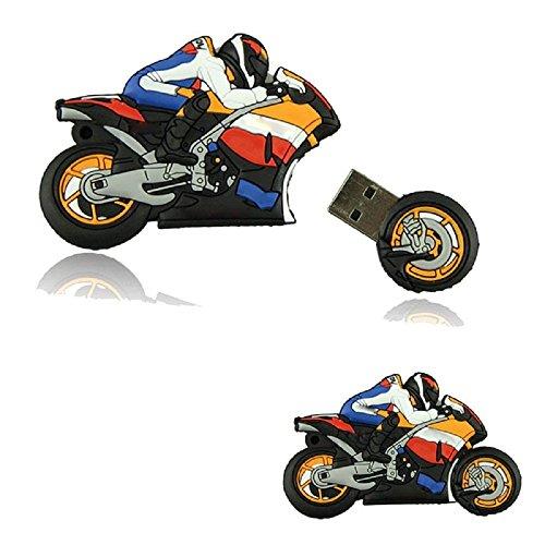 WooTeck 16GB 3D Cartoon Motorcycle USB Flash Drive Memory Stick Pendrive