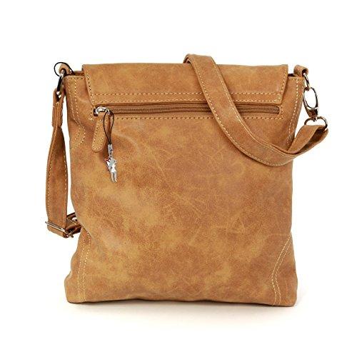 Street Look Bag Latched Cognac Handbag Bag Street Bag Shoulder Used Eaq8Pwnx