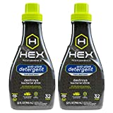 HEX Performance Anti-Stink Detergent, Fresh Clean Scent, 32 Loads, 2pk
