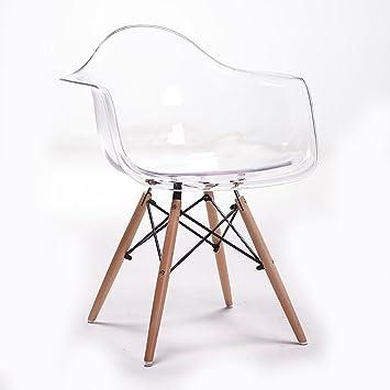 LHcy Silla Transparente barandilla Silla Simple diseñador ...