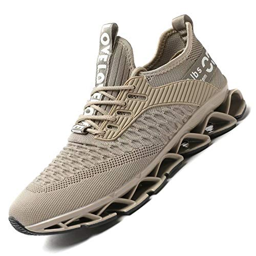 Chopben Men's Running Shoes Blade Non Slip Fashion Sneakers Breathable Mesh Soft Sole Casual Athletic Lightweight Walking Shoes