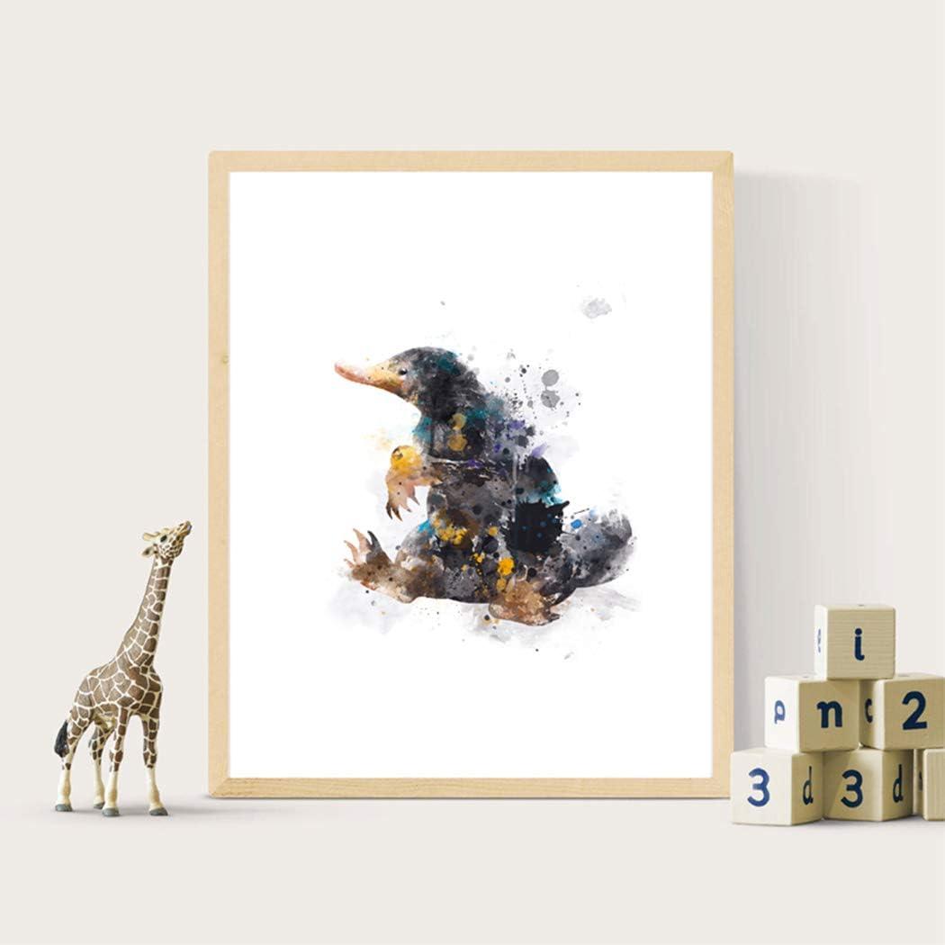 Fantastic Beasts Newt Scamander Print Poster Watercolour Framed Canvas Wall Art
